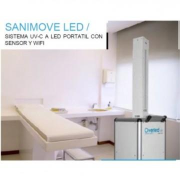OVERLED Lámparas y tubos de Luz ultravioleta LED SANIMOVE UV-C 275NM 250W PORTATIL CON SENSOR Y WIFI